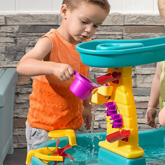 step2 Shower Tower Splash Pond Water Table