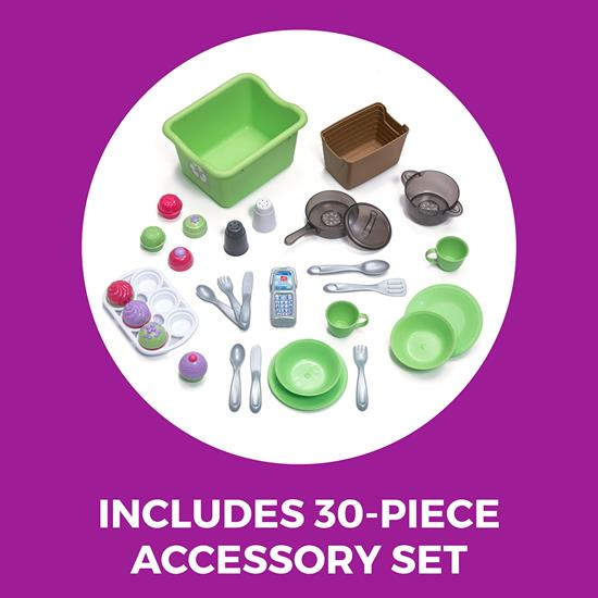 accessories included in step2 Sweet Baker's Kitchen