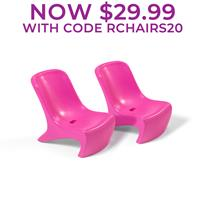 Junior Chic 2-Piece Chair Set™-Raspberry