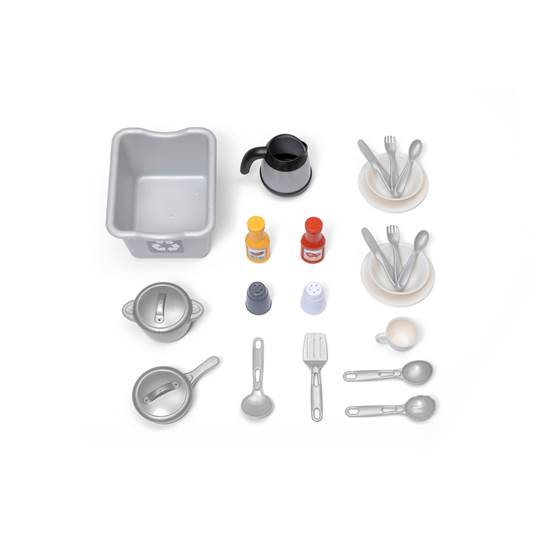 accessories included in step2 Modern Cook Kitchen™ - Pink