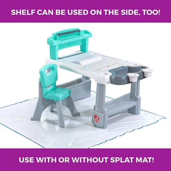 Step2 Deluxe Creative Projects Art Desk With Splat Mat