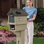 Step2 MailMaster Timberline Plus Mailbox rear access door