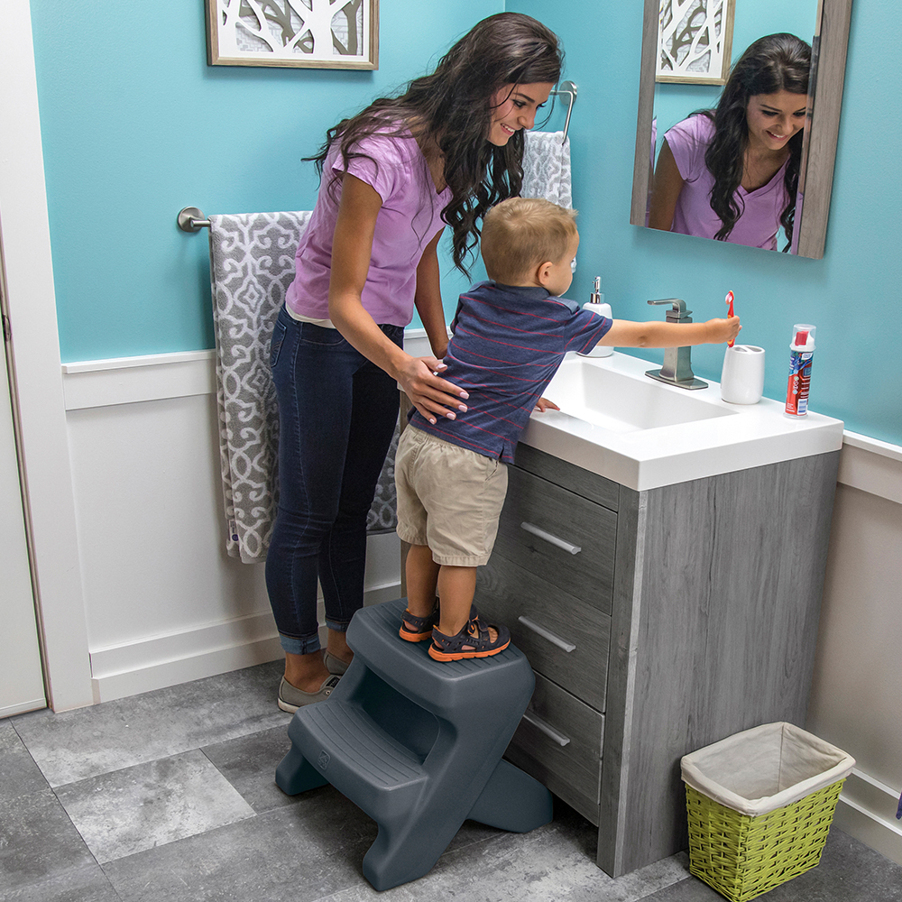 Step2 Carry Top Two-Step Stool bathroom sink
