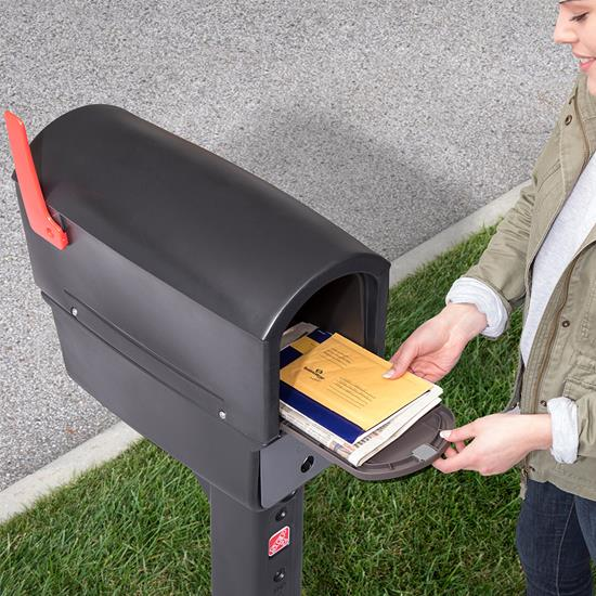 Step2 MailMaster Express Plus Mailbox - Black rear door