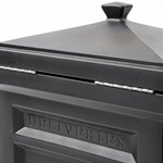 Step2 Deluxe Package Delivery Box - Elegant Black hinged lid
