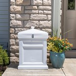 Step2 Deluxe Package Delivery Box - Estate White on porch