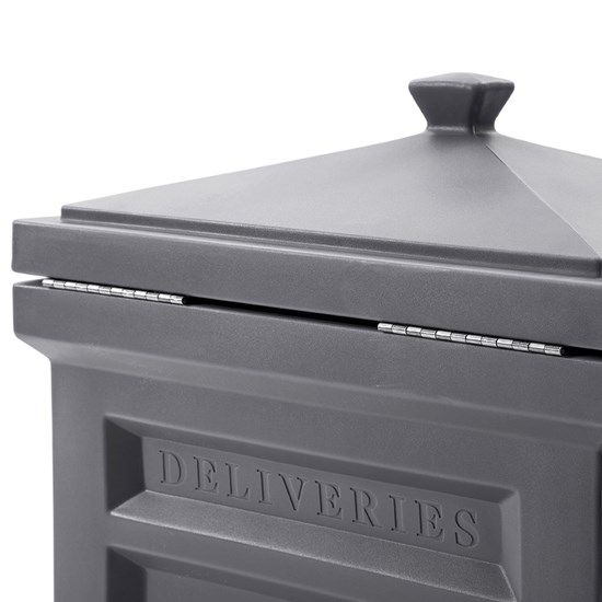 Step2 Deluxe Package Delivery Box - Manor Gray hinged lid