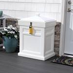 step2 Deluxe Package Delivery Box, Estate White, with BoxLock™ & Yard Kit
