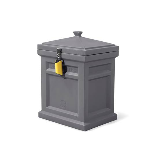 step2 Deluxe Package Delivery Box, Manor Gray, with BoxLock™ & Yard Kit