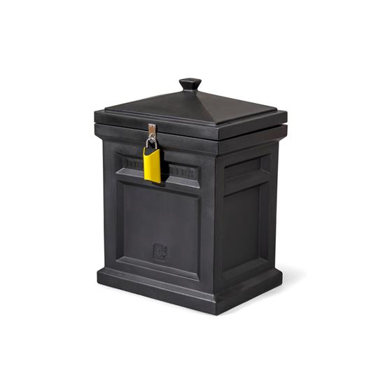 step2 Deluxe Package Delivery Box, Black, with BoxLock™ & Yard Kit
