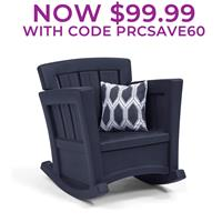 Patio Rocking Chair™- Midnight Blue