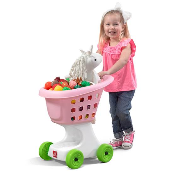 Step2 Little Helper's Kids Shopping Cart blue
