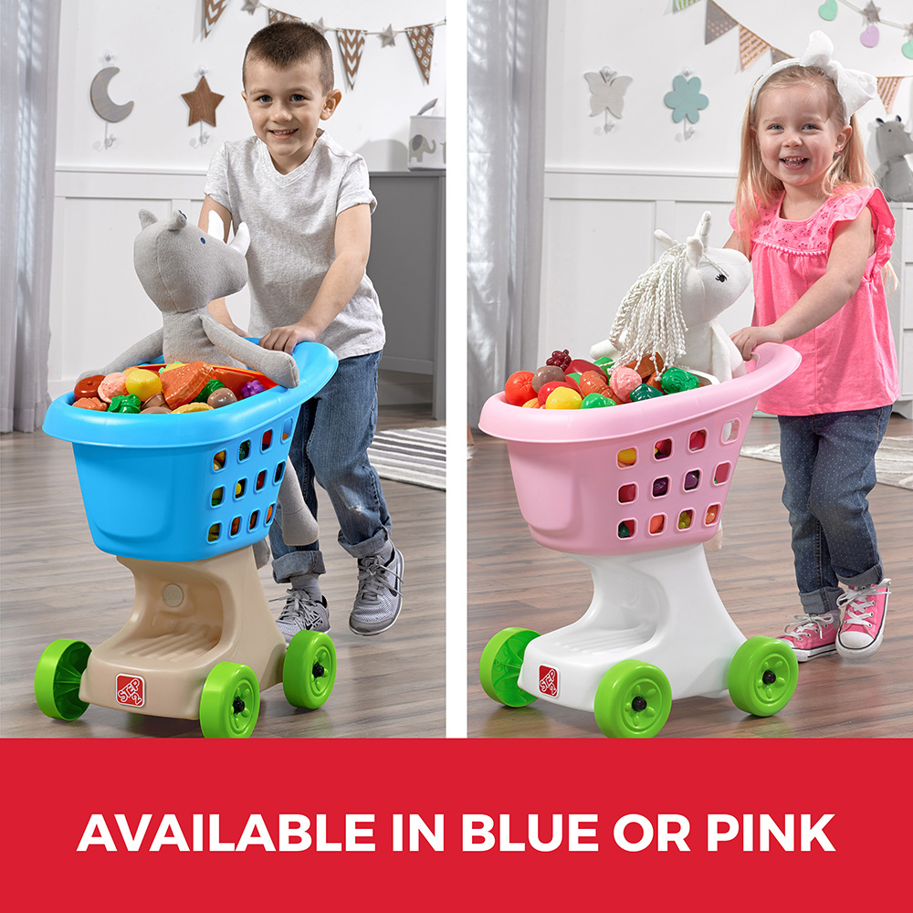 step2 little helpers shopping cart pink outdoor pretend grocery toddler toy ebay. Black Bedroom Furniture Sets. Home Design Ideas