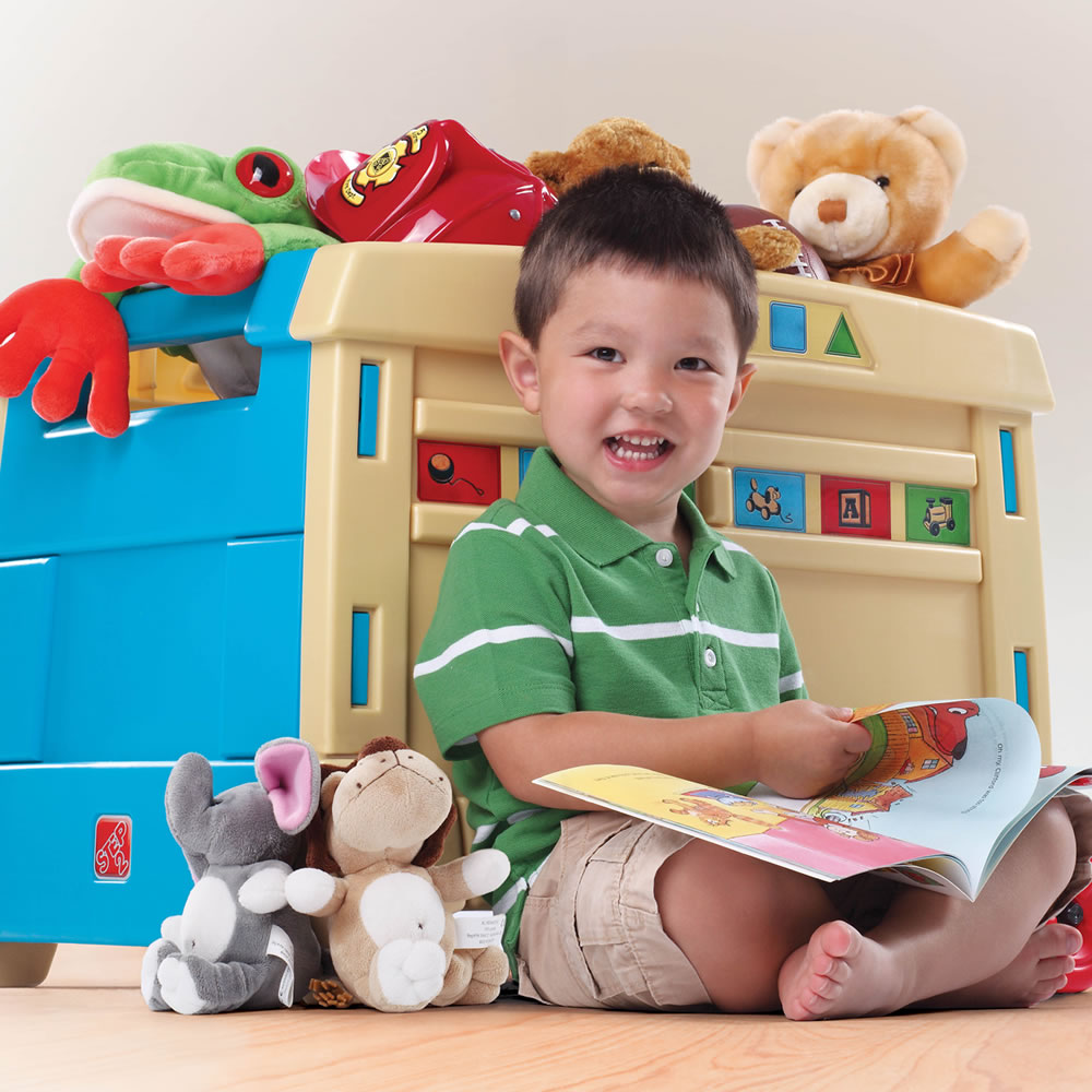 Step2  Lift & Roll Toy Box filled with toys