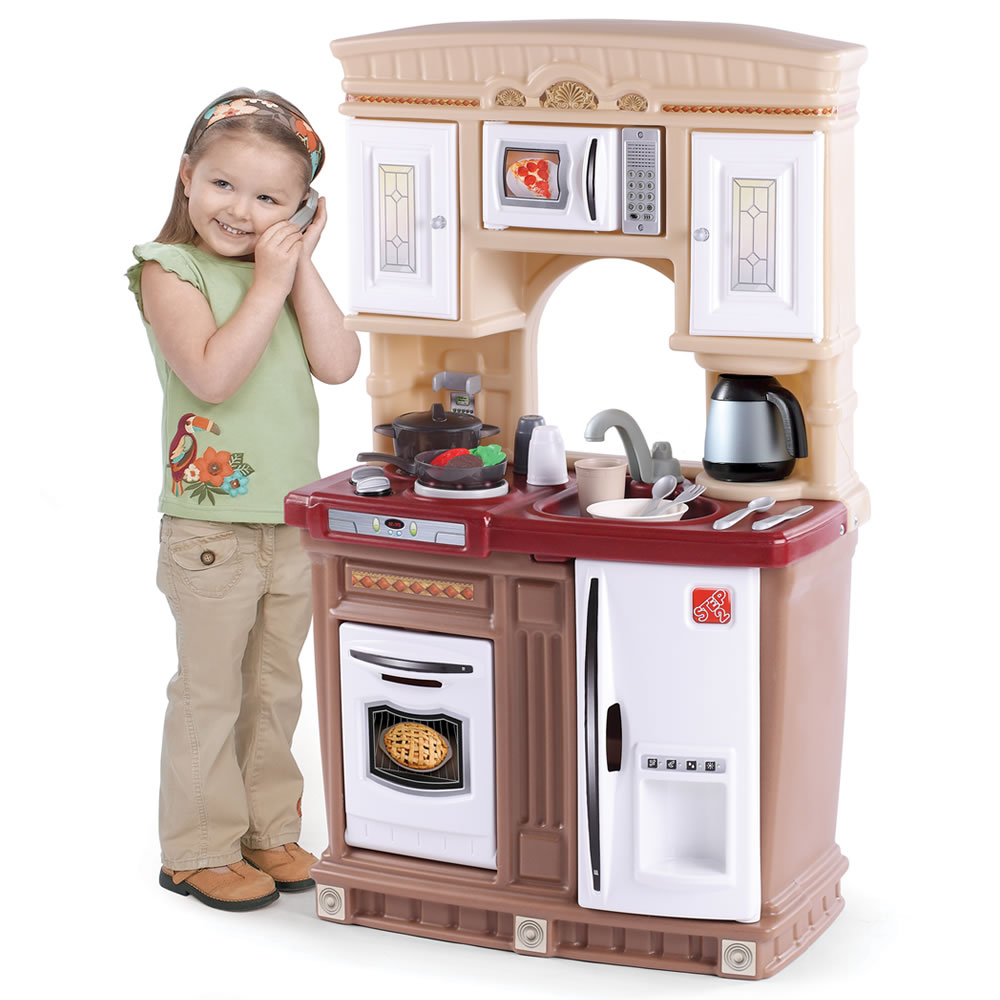Lifestyle fresh accents kitchen kids play kitchen step2 for Toddler kitchen set