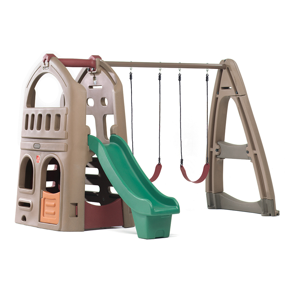 step2 Naturally Playful Playhouse Climber & Swing Extension