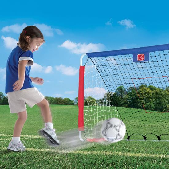 Step2 Kickback Soccer Goal & Pitch Back soccer goal shot