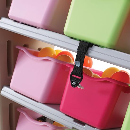 Step2 Fun Time Room Organizer Tropical bins and wall anchor