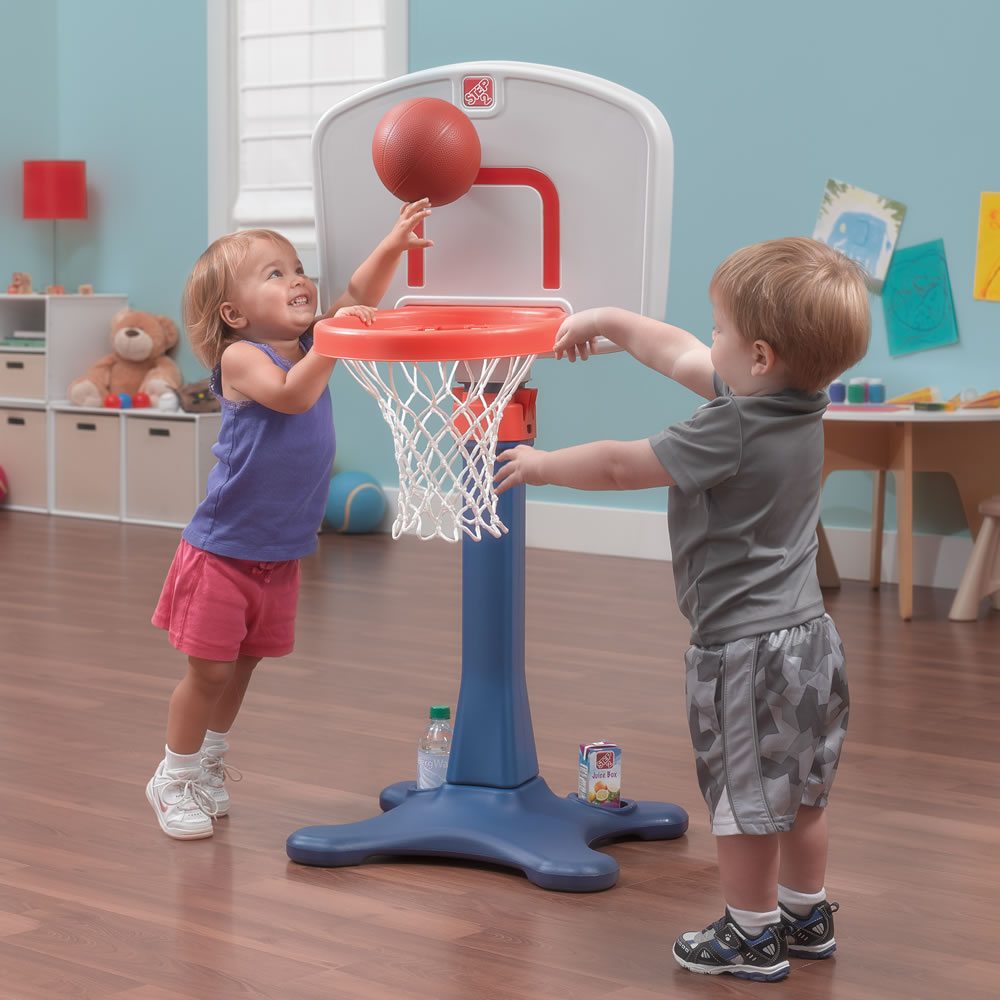 Step2 Shootin' Hoops Junior Basketball Set low height