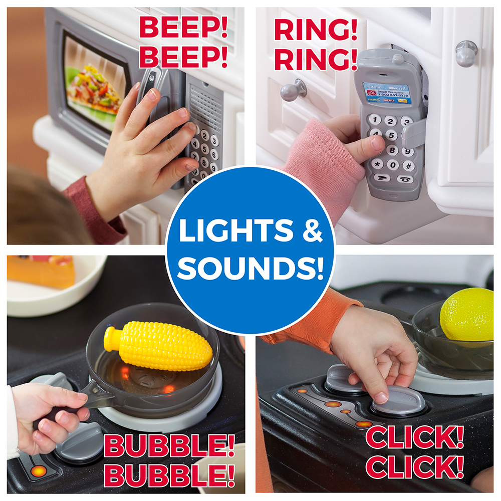 Step2 LifeStyle Dream Kitchen Burner Makes Cooking Sounds
