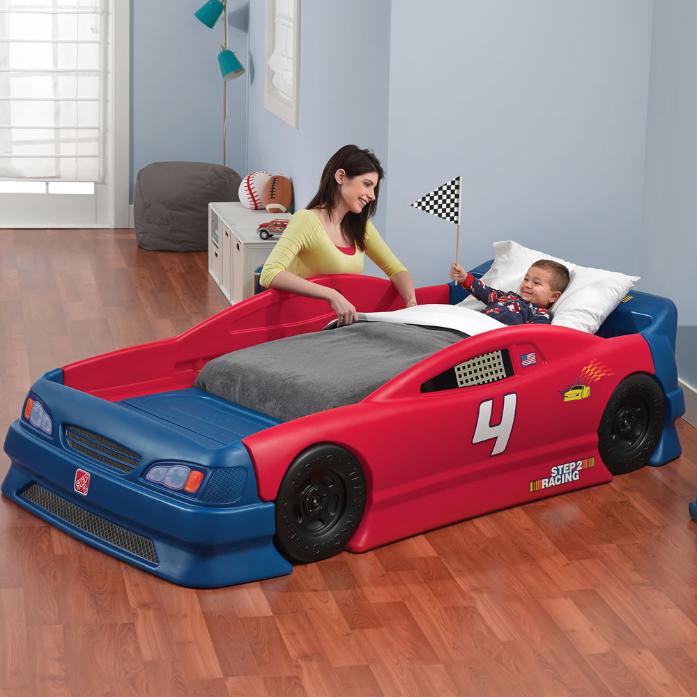 Uncategorized Bed Car stock car convertible bed kids step2 convertible