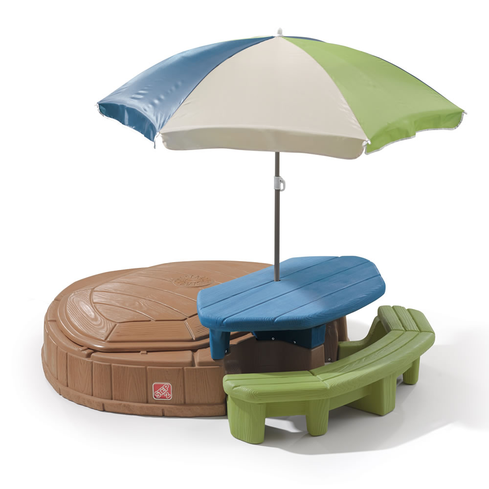 Naturally playful summertime play center kids sand water play step2 naturally playful summertime play center picnic table watchthetrailerfo