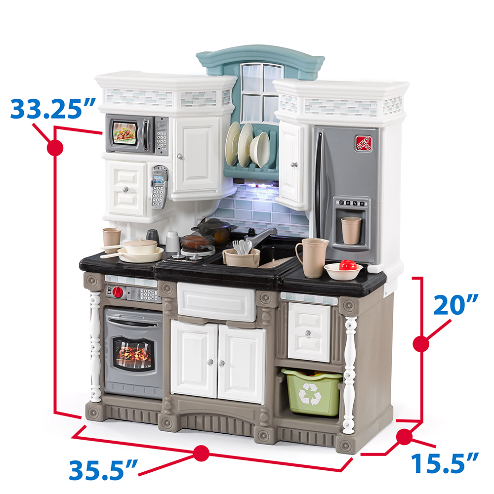 Dream kitchen with extra play food set step2 for Kitchen kitchen set