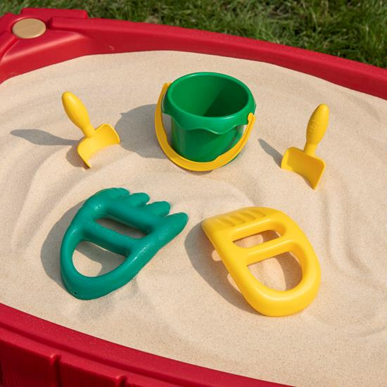 little boy playing in sand step2 naturally playful sandbox