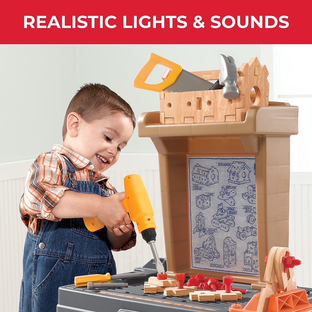This Step2 Power Tools & Projects Workshop is the perfect work bench for your little handy man or woman. Kohl's Exclusive. Gift Givers: This item ships in its original packaging. If intended as a gift, the packaging may reveal the contents.