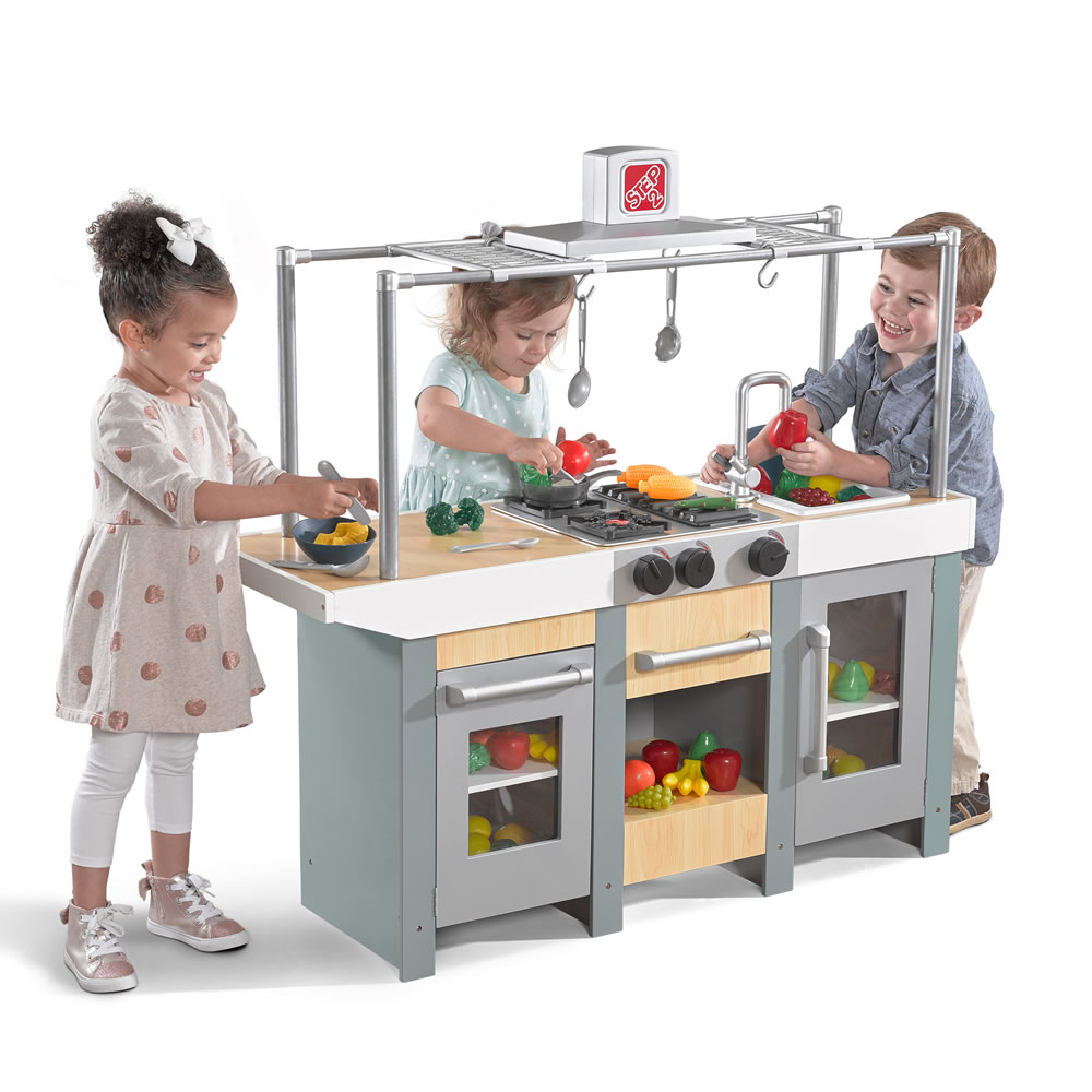 Uptown Urban Wood Kitchen Amp Island Play Kitchens Step2