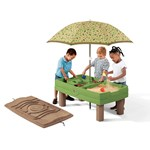 Naturally Playful® Sand & Water Activity Center™ - Green and brown