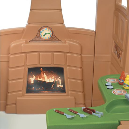 Step2 Gather and Grill Playhouse Fireplace