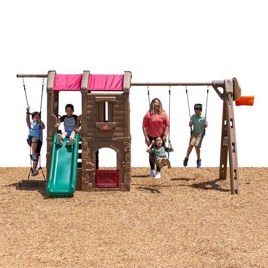Step2 Naturally Playful® Adventure Lodge Play Center Swing Set