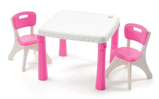 Step2 LifeStyle Kitchen Table & Chairs Set Pink