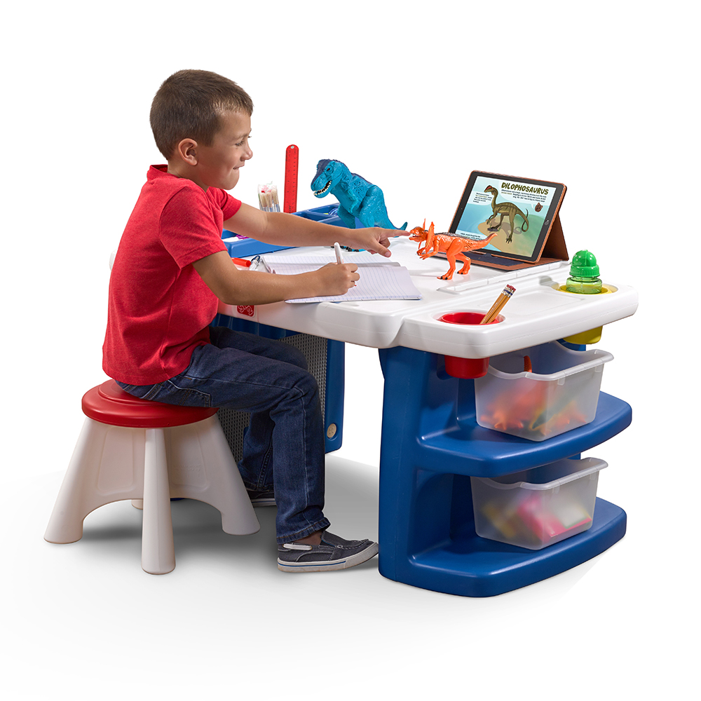 Ordinaire Build U0026 Store Block U0026 Activity Table | Kids Art Desk | Step2