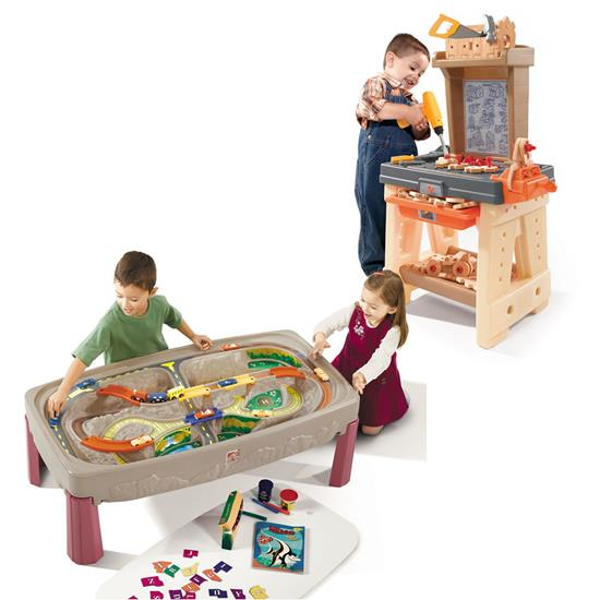 step2 tools and trains play set
