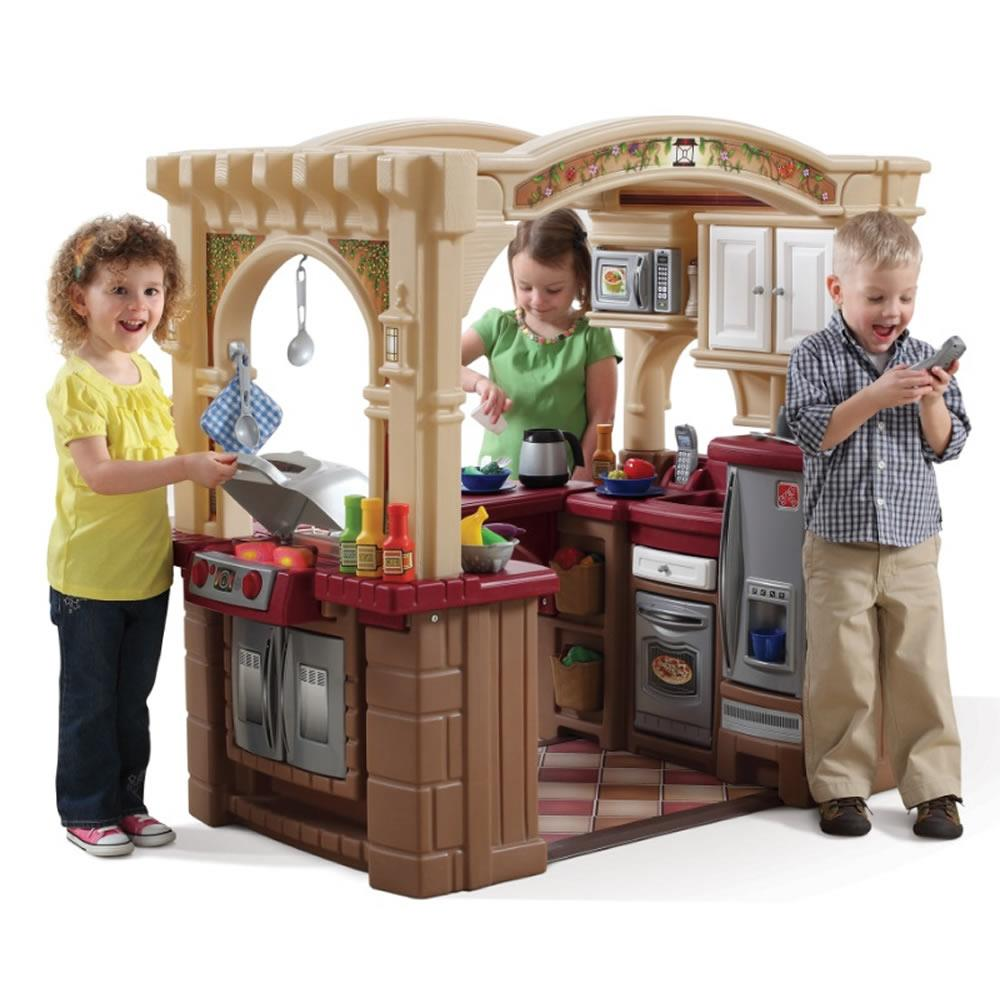 Grand Walk In Kitchen Grill Kids Play Kitchen Step2