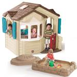Naturally Playful Welcome Home Playhouse & Sandbox Combo - Revised