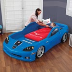 Step2 Corvette Toddler to Twin Bed with Lights - Blue