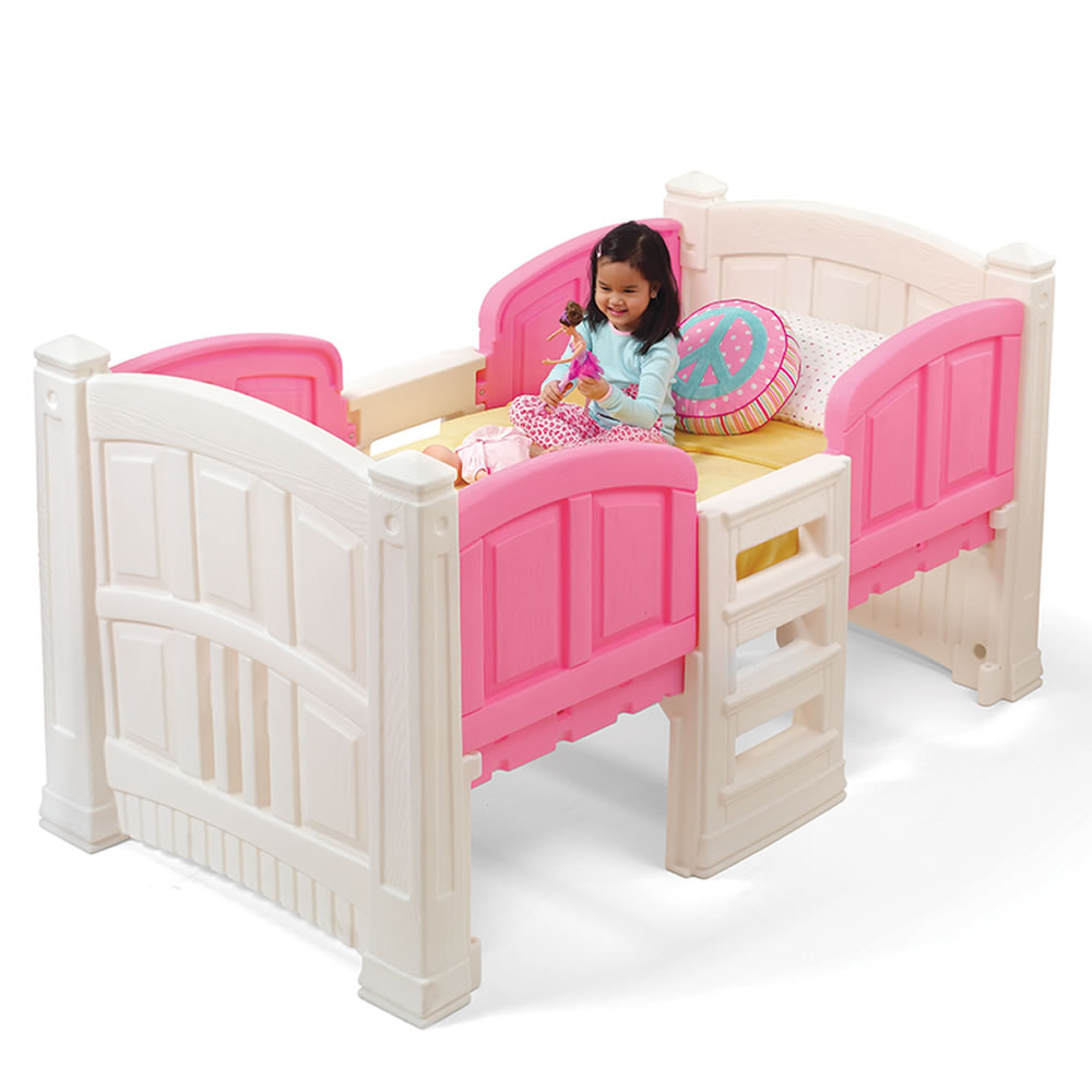 twin bed girls s loft storage bed bed step2 13633