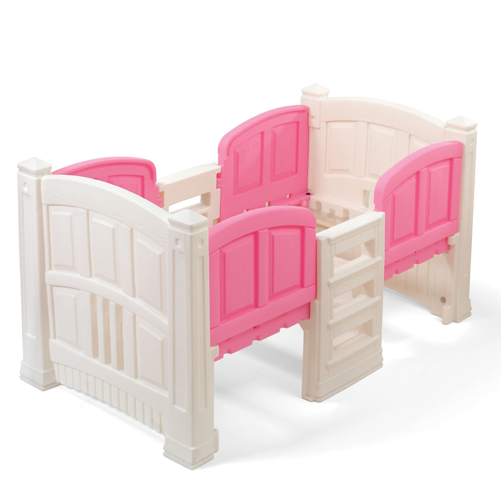 Girl 39 s loft storage twin bed kids bed step2 for Toddler bunk beds