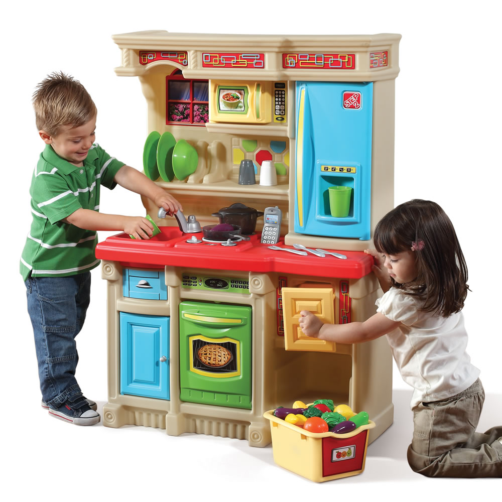 lifestyle custom kitchen - brights | kids play kitchen | step2