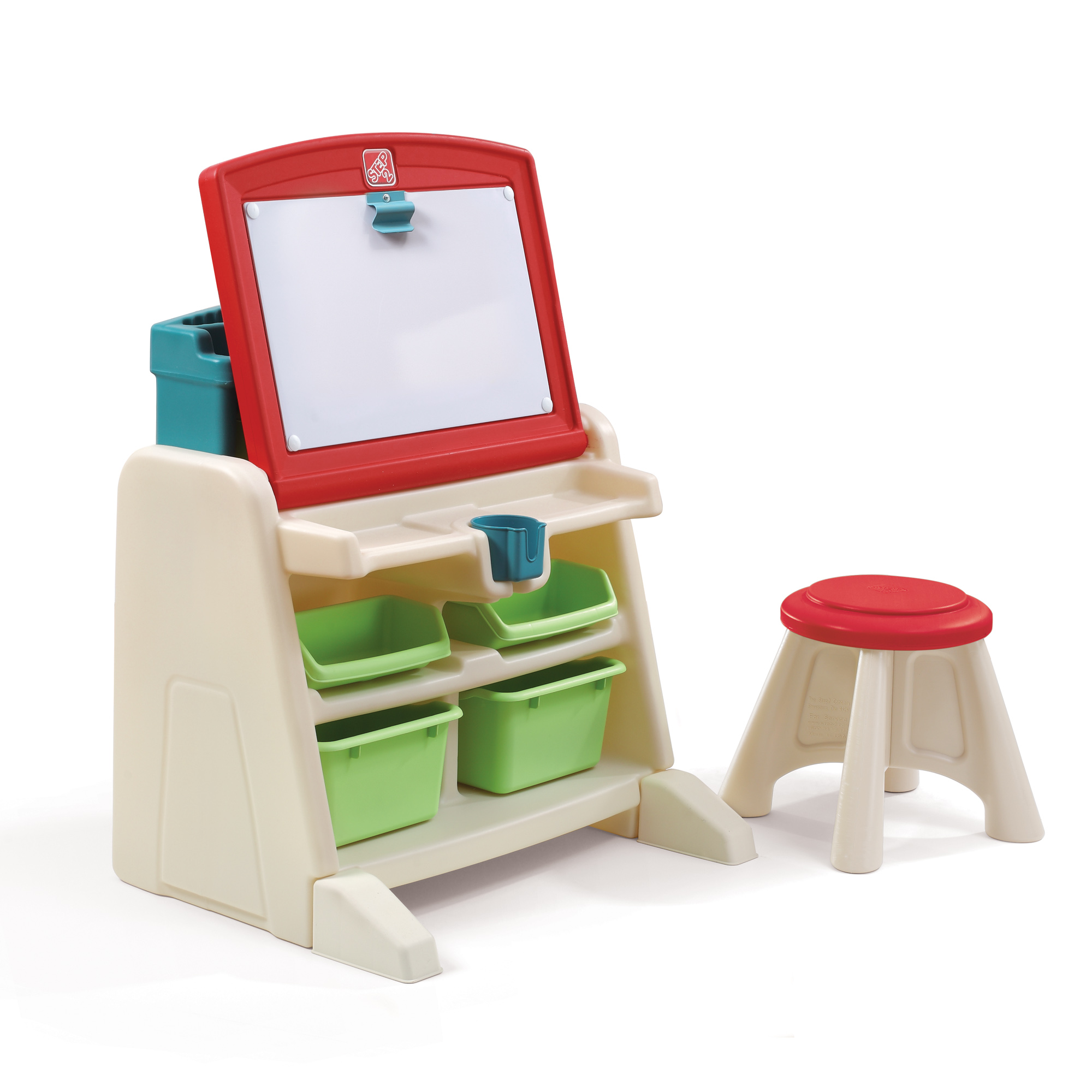 Flip Amp Doodle Easel Desk With Stool Kids Art Desk Step2