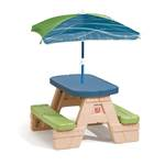 Sit & Play Picnic Table with Umbrella™ - Blue and green
