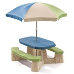 Naturally Playful® Picnic Table with Umbrella - Earth 99