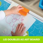 Step2 2-in-1 Toy Box & Art Lid Tan art clip