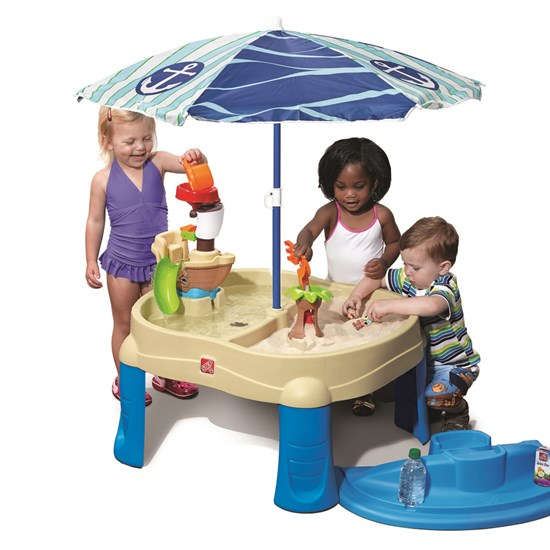 step2 Sail Away Adventures Sand & Water Table with umbrella