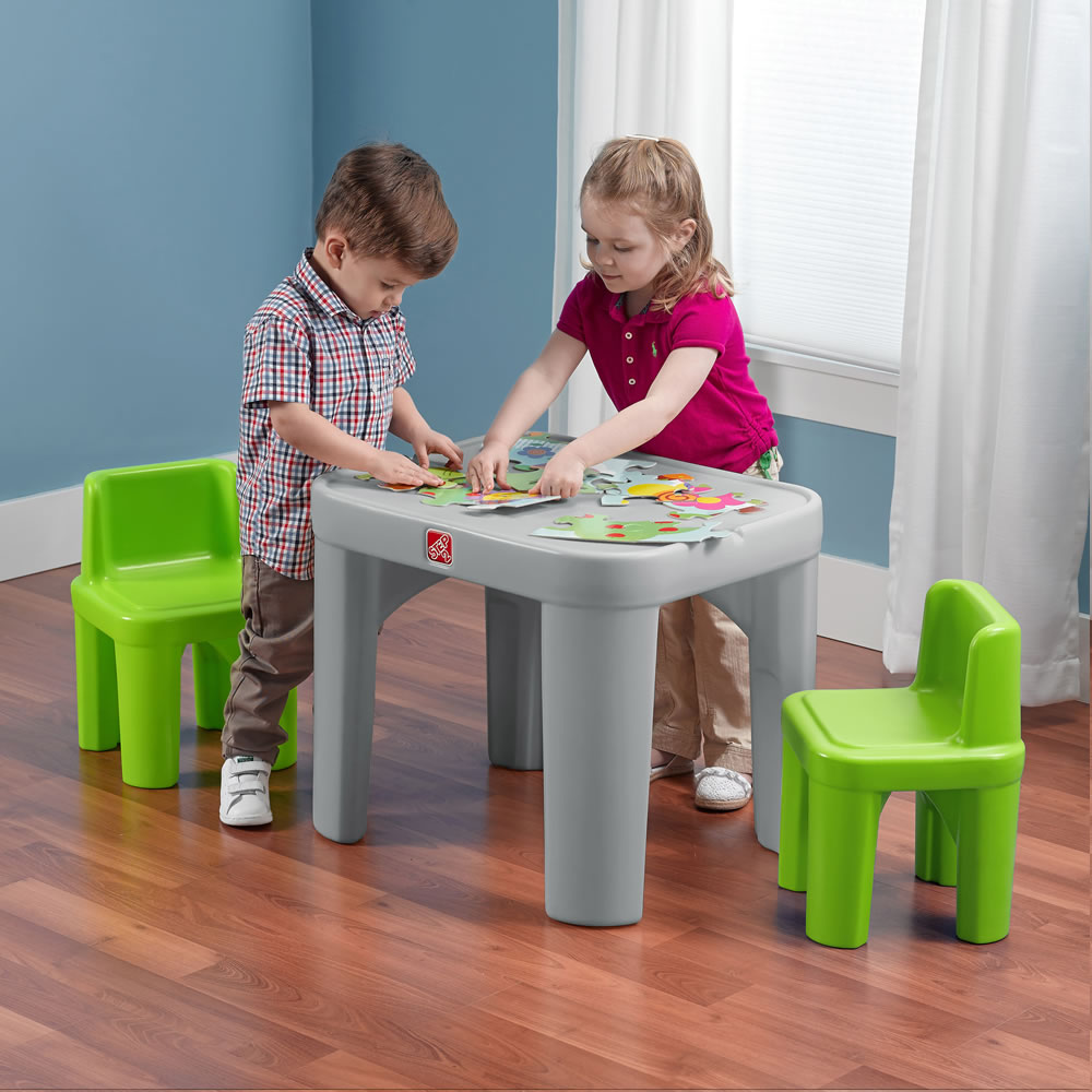 Step2 Mighty My Size Table u0026 Chairs Set & Mighty My Size Table u0026 Chairs Set | Step2