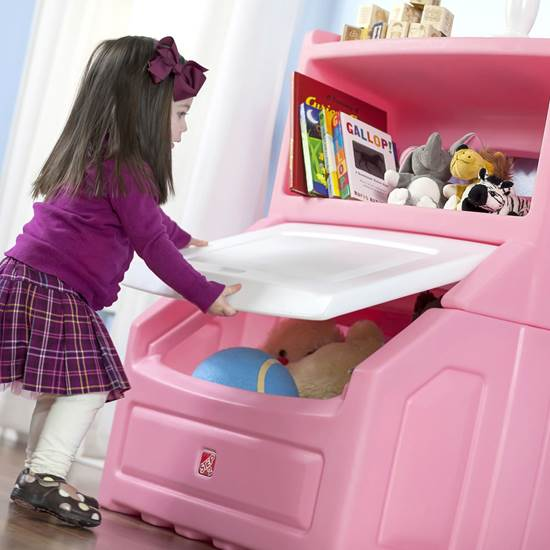 Step2 Lift & Hide Bookcase Storage Chest Pink