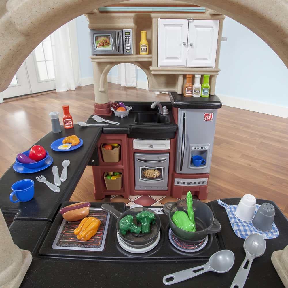 Grand Walk-In Kitchen with Extra Play Food Set | Kids Toy Combo ...